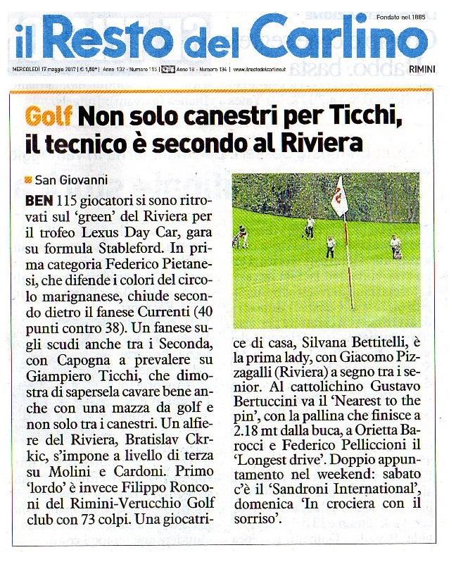 Il resto del carlino Riviera golf maggio