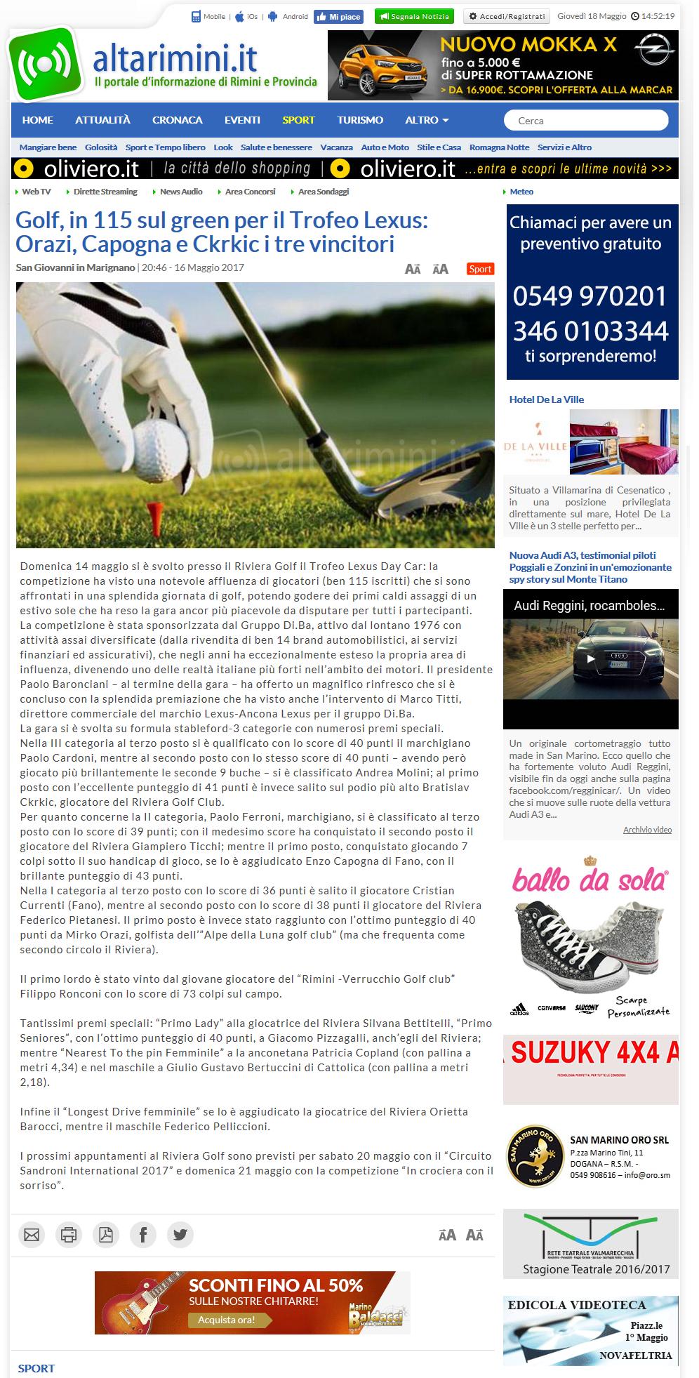 altarimini golf maggio