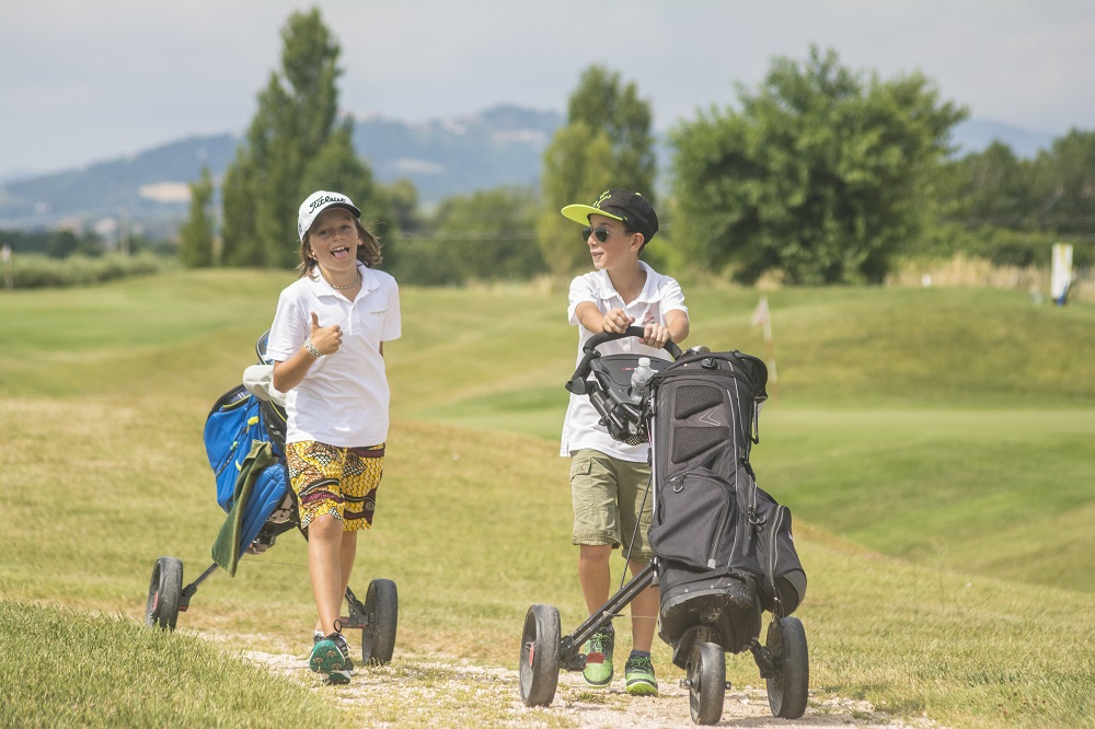 I love golf bambini in campo